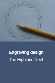Engraving design for The Highland Reel