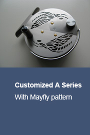 Customized A Series with Mayfly pattern and gold plated screws
